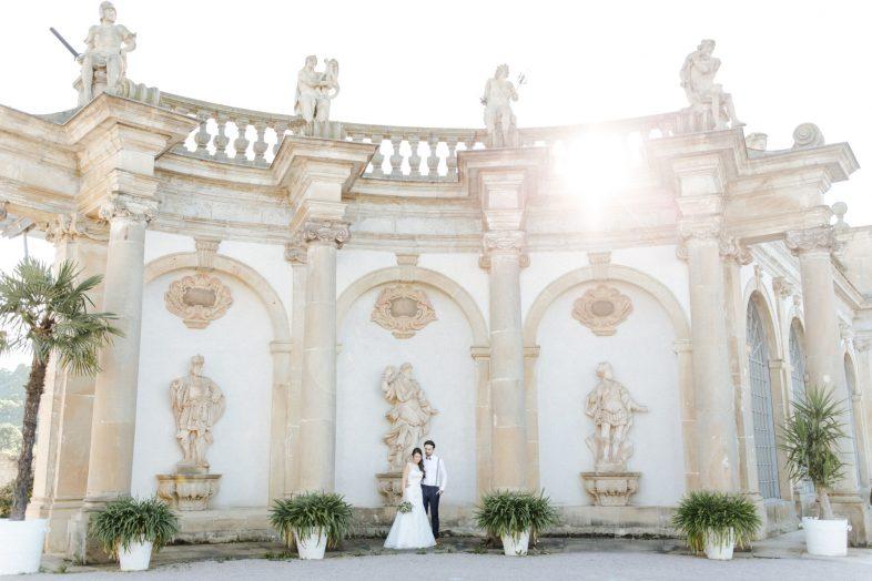 Hochzeitsreportage im Schloss Weikersheim mit freier Trauung